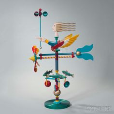 James Eaton Polychrome Metal Weathervane Sculpture, America, 2002. | Lot 4 | Auction 2959M | Sold for $984
