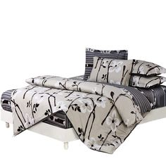 Papa&Mima 6pcs Bedding sets Duvet Cover Pillowcase fitted Bedsheet 100% cotton king queen full twin size bedclothes linens