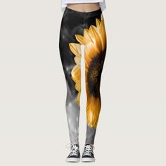 Sunflower Leggings - yoga health design namaste mind body spirit