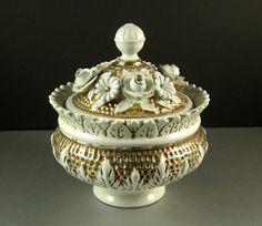 Italian Porcelain Ceramic Lidded Decor Bowl / by UBlinkItsGone