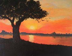 ORANGE SUNSET Originally created for Paint Nite by Callie Hastings