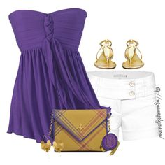 Purple Tunic :) Love the color, but would need more covering. The shorts are wicked cute!
