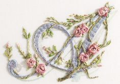 ribbon embroidery | ... » Books: 5. Monograms & Words in Ribbon Embroidery » The Letter A