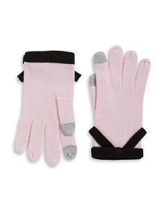 Kate Spade New York Contrast Bow Gloves Women's Orchid Frost
