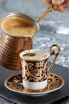 Its actually greek or Turkish coffee, very strong coffee but smooth. Had this when I went to tea/coffee reading . Was the best coffee I ever had so was the reading! I Love Coffee, Coffee Break, My Coffee, Morning Coffee, Coffee Aroma, Fresh Coffee, Coffee Signs, Expresso Coffee, Sunday Coffee