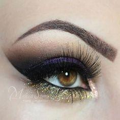 Purple and Gold Glitter