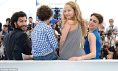 Her film family! Berenice Bejo, actress Jeanne Jestin, actor Elyes Aguis and actor Tahar Rahim attend 'Le Passe' photocall during the 66th Annual Cannes Film Festival  Day 4 (May 17, 2013)