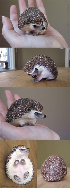 Little Hedgehog Sculpture by HylianJean