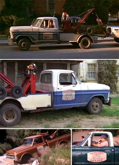 """Cooter's Tow Trucks """"The Dukes of Hazzard"""" Top 2 Are 70' Ford's Bottom Pics Are 70' Chevy/GMC May Have Even Driven A Dodge At Some Point!"""