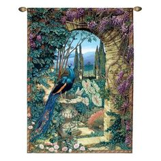 Basil Street Gallery MW949 The Peacock's Garden Wall Tapestry