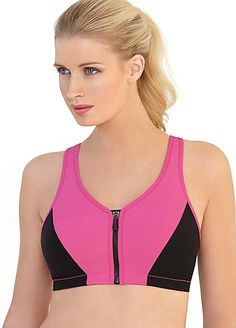 3533fb5c430d4 Glamorise MagicLift High Impact Zipper Sports Bra