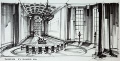 Production Design by Ken Adam for the Bond movie 'Thunderball'