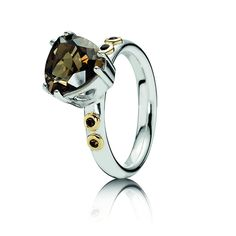 Pandora MOA - Close To My Heart Ring, $105.00 (http://www.pandoramoa.com/close-to-my-heart-ring-with-smoky-quartz/)