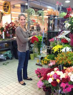 Une fleur parmi les fleurs… Isabelle porte des Hirica Zoelia vernis marine