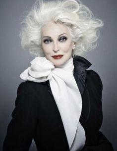 Born in 1933 ... Carmen Dell'Orefice so beautiful.  She is still modeling at 8o years old.