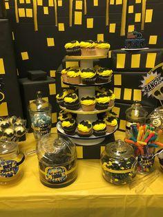 Sally J's Birthday / Batman - Photo Gallery at Catch My Party 5th Birthday Party Ideas, 3rd Birthday, Birthday Parties, Batman Party Decorations, Batman Party Supplies, Batman Birthday Cakes, Villains Party, Baby Batman, Lego Dc
