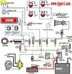 54 best wiring diagram images electric, cars, electric circuit Scooter Wiring Diagram simplified wiring diagram motorcycle headlight, motorcycle wiring, motorcycle parts, chinese 4 wheeler,