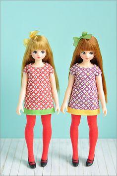 DORAN DORAN Doll is korean dollmaker, ATOMARU's brandname.  these cute girls are ARAM type.  blonde girl is ARAM B,red brown hair is ARAM G. Photo by Happy*Blue.