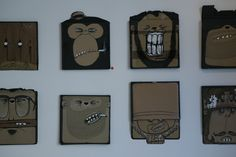 MY 100 CARDBOARDS by berni valenta, via Behance
