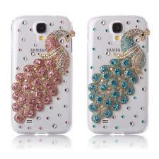 3D Bling Crystal Rhinestone Diamond Peacock Case Cover Samsung Galaxy S4 (Color)