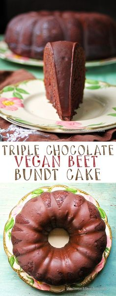 This decadent vegan triple chocolate bundt cake has a secret ingredient to make it incredibly moist with added health benefits. Click the photo to find the whole recipe along with the secret ingredient!