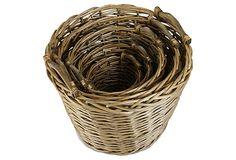 Round Market Baskets, Set of 5 on OneKingsLane.com