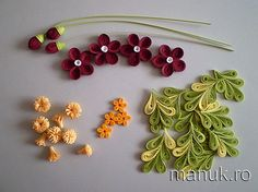 Quilled Flowers and Leaves Tutorial