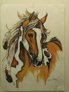 American Indian Horse Paint Pinto TShirt by firelandsteeshirts, $13.99
