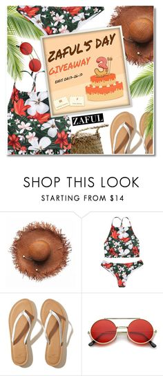 """""""NEW CONTEST! Zaful 3rd Anniversary Contest- 2 lucky winner win $20 cash"""" by paculi ❤ liked on Polyvore featuring Bloomingville, Hollister Co., Summer and bikini"""