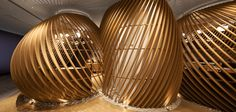 Sit Inside Fishing Basket Inspired Curvilinear Structures At This Restaurant