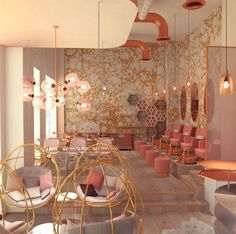 Project Pink Confessions ☕️ • Concept: Chic Blush, the ultimate feminine retreat. Through the abstraction of geometrical shapes and the combination of metallic elements with blush like colour palette, an interior space was created to deliver the ideal experience of relaxation and tranquility. •For more Pictures, use link in bio