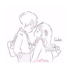CahoさんはInstagramを利用しています:「君と幸せになりたいと思うのです。 #illust #illustrator #illustration #イラスト」 Couple Drawings, Easy Drawings, Cosplay Tumblr, Little Boy And Girl, Cute Art Styles, Dibujos Cute, Anime Love Couple, Pretty Art, Cute Love