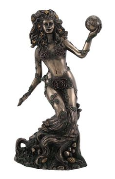 This beautifully sculpted goddess of Gaia is cast in high quality cold cast resin and hand painted in an antique bronze finish. Gaia, also known as Gaea is the goddess or personification of Earth in ancient Greek mythology. A truly detailed statue depicting Gaia flowing from the Earth. GET YOURS TODAY!