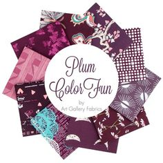 Plum ColorFUN Fat Quarter Bundle Art Gallery Fabrics - Fat Quarter Bundles  | Fat Quarter Shop