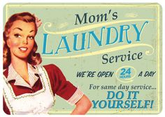 Moms Laundry Emaille bord bij AllPosters.nl