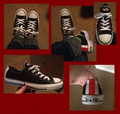 N7 modded Converse sneakers submitted by @MissFishGirl- I'm totally going to try and make myself a pair of these!!!