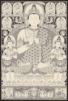 Vairocana by Mukti Singh Thapa at Mahakala Fine Arts