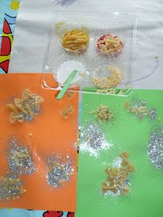 Super simple, sensory fun activity for little kids. With tips to enhance learning while playing and creating.