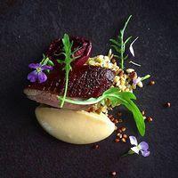 Smoked duck & black doris plum. ✅ By - @phils_kitchen_nz ✅ #ChefsOfInstagram