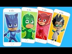 PJ Masks Wrong Heads Mobile Phones, Learn Colors with Pj Masks - YouTube