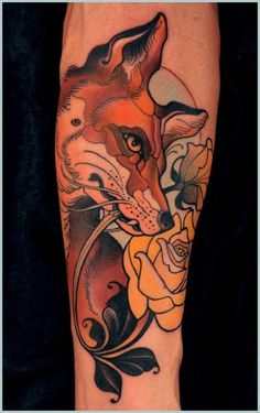 "Tattoo von Lars ""Lu´s Lips"" Uwe Jensen Mehr Source by OtziApp Traditional Tattoo Animals, Neo Traditional Tattoo, Piercings, Piercing Tattoo, Great Tattoos, Beautiful Tattoos, Fuchs Tattoo, Fox Tattoo, Tattoo Ink"