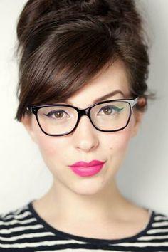 3 адски секси прически за дами с очила #hair #girl #women #lady #fashion