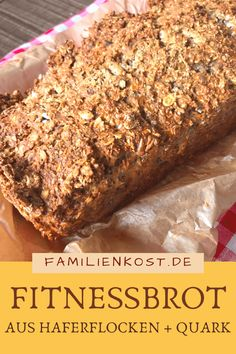 Haferflocken Quark Brot Recipe for a healthy fitness bread without yeast from oatmeal and quark: www. Bread Without Yeast, Law Carb, Kitchen Recipes, Family Meals, Bread Recipes, Oatmeal, Bakery, Food And Drink, Tasty