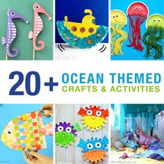 Fun ocean-themed crafts that kids will love