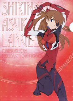 absurdres arms up blue eyes bodysuit brown hair character name english text evangelion: you can (not) redo eyepatch hair ornament hands together highres huge filesize long hair neon genesis evangelion official art plugsuit rebuild of evangeli Neon Genesis Evangelion, Asuka Langley Soryu, Good Anime Series, Mecha Anime, Character Poses, Character Wallpaper, Best Waifu, Female Anime, Animes Wallpapers