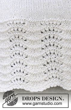 Drops - Free Knitting Patterns By Drops Design - Diy Crafts - bobcik Baby Knitting Patterns, Lace Knitting, Knitting Stitches, Knitting Designs, Sewing Designs, Drops Patterns, Lace Patterns, Stitch Patterns, Diy Crafts Knitting