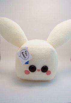 Tofu Bunny Rabbit Cube Plushie