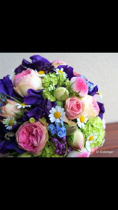 Brautstrauß lila rosa