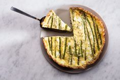 Asparagus Quiche  with tarragon,goat cheese and shredded potato crust that tastes just like hash browns Epicurious.com