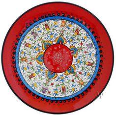 Iznik Design Ceramic Plate - Millenium yurdan.com